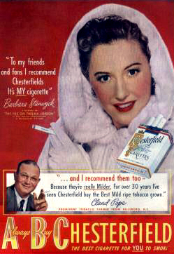 Stanwyck for Chesterfield