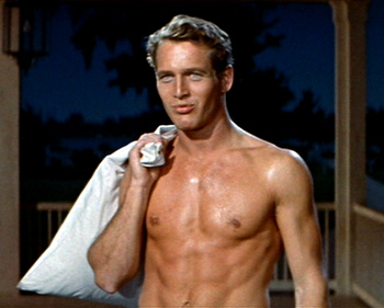 Gratuitous shirtless shot of Paul Newman - because I CAN