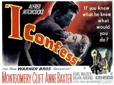 "the movie poster for ""I Confess"" - Click for larger image"